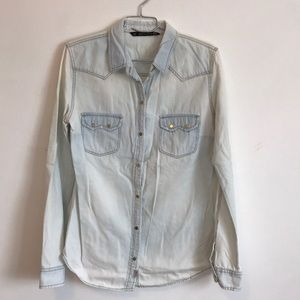 Distress Denim Shirt from Zara